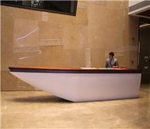 Custom Hotel Lobby Reception Desk Counter