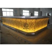 Luxury Led Club Bar Restaurant Bar Counter