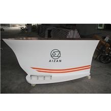 Modern Boat Shape Bar Counter