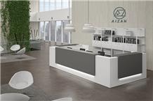 Modern White Hospital Reception Desk