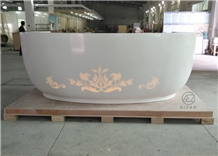 Semi-Circle Reception Desk Solid Surface Top