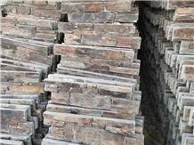 China Rusty Brown Slate Cultured Stone Cladding