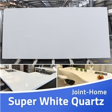 Super White Quartz Slabs Tiles / Manmade Stone