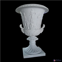 Carved Outdoor Decoration Stone Statue Flower