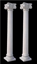 Custom White Marble Column Home Decor Column