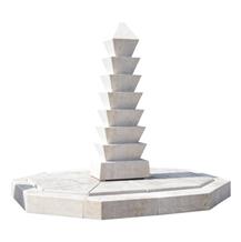 Elegant White Marble Water Fountain