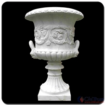 Outdoor Decoration Stone Statue Marble Flowerpot