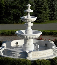 White Marble Outdoor Fountain