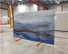 Azul Macaubas Quartzite Slab,Royal Blue Wall Tile