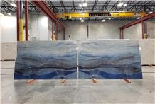 Royal Blue Macaubas Quartzite Slab Tile Floor Covering