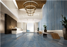 Royal Blue Macaubas Quartzite Slab Tile,Hotel Floor Cover