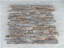 Rusty Slate Cement Back Stacked Stone Veneer