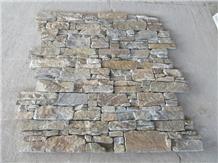 Rusty Yellow Quartzite Cement Back Stone Cladding