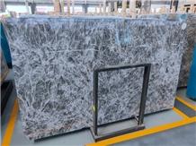 Saudi Arabia Snow Fox Silver Grey Marble Slabs
