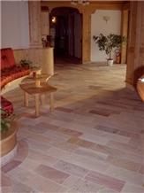 Coral Pink Quartzite Tiles - Pink Quartzite Floor Tiles