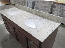 New River White Granite Prefab Countertop