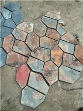 Cut Split Slate Flagstone Mesh Pavers Walkway