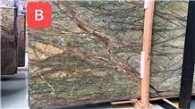 Rainforest Green/ Brown Marble Slabs
