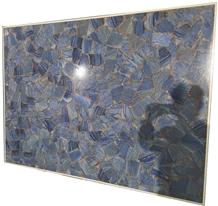 Blue Crystal Agate Marble Slab