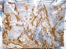New Pandora Gold and Grey Marble Slabs & Tiles