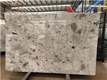 Breccia Grey Natural Terrazzo Marble Tiles