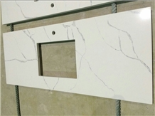 Calacatta White Artificial Stone Quartz Countertop