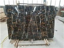 Gold Portoro Black Portoro Marble Wall Tiles