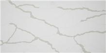 White Calacatta Quartz Stone Tiles