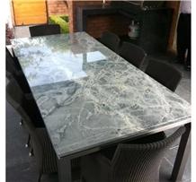 Atlantic Lava Grey Sky Blue Granite Table Top