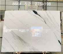 White Marble Black Vein Tile Slab Pattern Covering