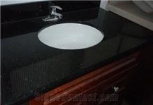 Absolute Black Granite Vanity Top for Apartment