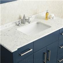 Bianco Carrara White Quartz Bath Tops Hospitality