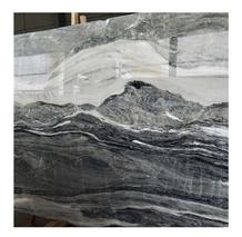 Blue Totem Dark Grey Marble Stone with White Vein