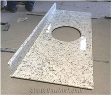 Brazil Rose White Granite Countertop with Back Splashes
