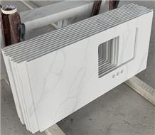 Calacatta White Quartz Stone for Vanity Tops,Bathroom Countertops