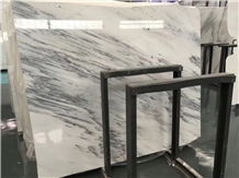 China Ink White Marble Slab Wall Floor Tiles