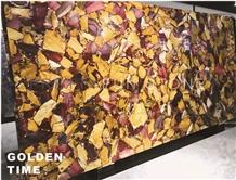 Colorful Agate Stone Semi Precious Slab Tiles