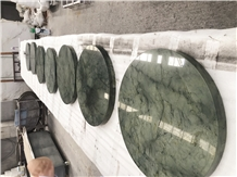 Dream Magic Green Marble Small Round Table Tops