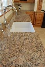 Giallo Fiorito Kitchen Countertop, Yellow Granite