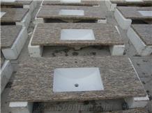 Giallo Santa Cecilia Yellow Granite Vanity Bath Top