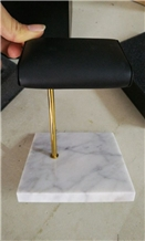 High Quality Gold Metal Watch Display Marble Base