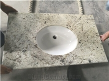 India Colonia White Granite Bathroom Countertop, Vanity Top