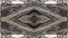 India Violet Brown Marble Slab Tiles Book Match