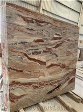Italy Monica Red Marble Slab Tiles, Arabescato Orobico Marble