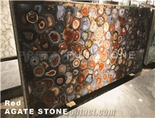 Natural Red Agate Semiprecious Stone Slabs