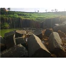 Natural Vietnam Black Granite Exotic Small Block