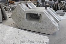 New River White Granite Apartment Kitchen Tops