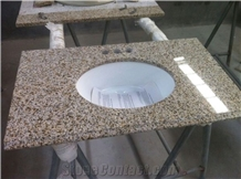 Shandong Rust Yellow Granite Bathroom Vanity Tops