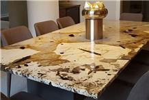 White Patagoina Granite Kitchen Countertops
