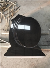 New Black Granite Gravestone